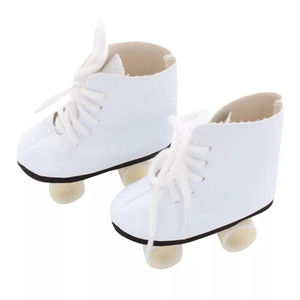 My Brittany's White  Roller Skates for American Girl Dolls , My Life as Dolls ,Our Generation Dolls and Bitty Baby Dolls
