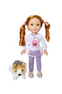 My Brittany's Happy Birthday Outfit For Wellie Wisher Dolls,Glitter Girl Dolls and Hearts for Hearts Dolls