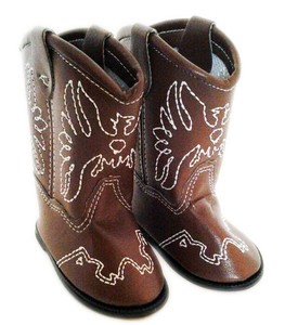 My Brittany's Dark Brown Western Boots for American Girl Dolls