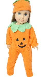 PUMPKIN OUTFIT FOR AMERICAN GIRL DOLLS AND BITTY TWINS
