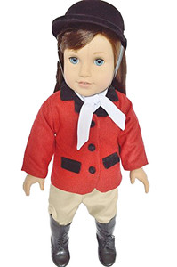 My Brittany's Red and Tan Horse Riding Outfit for American Girl Dolls