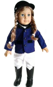 ✿BLUE HORSE RIDING OUTFIT FOR AMERICAN GIRL DOLLS✿