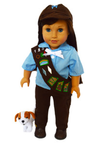 My Brittany's Brownie Girl Scouts Outfit for American Girl Dolls- Pants and Sash Version