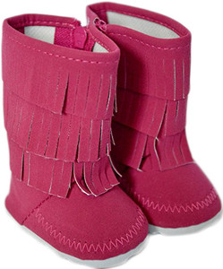 My Brittany's Pink Fringe Boots For American Girl Dolls