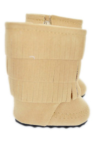 Light Brown Fringe Boots For American Girl Dolls