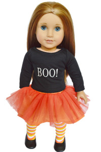 """BOO"" American Girl Doll Halloween Outfit With Shoes"