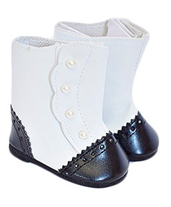 Black and White Victorian Boots-Sold Out