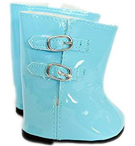 Blue Rain Boots for American Girl Dolls