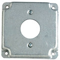 "4"" Square Raised Single Receptacle Cover #4RC-15/20"
