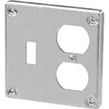 "4 11/16"" Square Raised Cover #41RC-2TD"