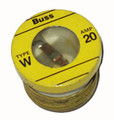 W-20   20A Edison Base Type W Fuse Box of 4