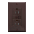 15A  GFCI Duplex Receptacle Brown #SGF15-B