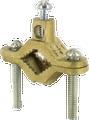 2 Screw Ground Clamp- Brass Plated