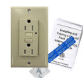 15 Amp Tamper-Resistant Self-Test GFCI Outlet,  Ivory
