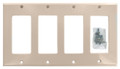 4-Gang Decora Style GFCI Wall Plate - Almond #264-A