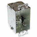 """2-3/4"""" Deep Switch Box with Ears and BX Clamps #BB249"""