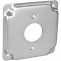 "4"" Square 1/2"" Raised TL Receptacle Cover 1.73"" #4RC30-TL"