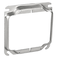 "4"" Square 2-Gang  1"" Raised Plaster Ring #TP502"