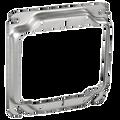 """4"""" Square 2-Gang  1-1/4"""" Raised Plaster Ring #501"""