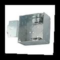 "4"" Square Box w/ Armored Cable, Side Bracket #CH52151-LA"