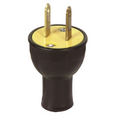 15A  2-Wire Male Straight Blade Plug #3123-BK