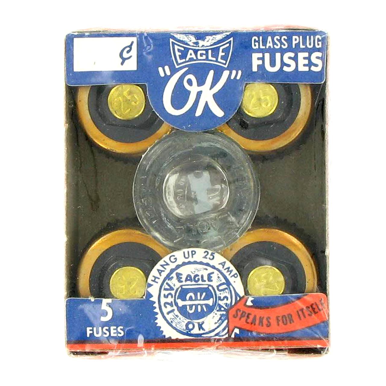 [FPER_4992]  Eagle 25A Non Delay Screw-In Glass Fuse (Box 5 )#690-25 - B&B Trading | Screw In Fuse Box |  | B & B Trading