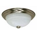 "11""  2-Light Flush Mount Ceiling Light Fixture  #60-197 Brushed Nickel Finish"