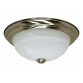 "13""  2-Light Flush Mount Ceiling Light Fixture  #60-198 Brushed Nickel Finish"