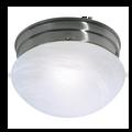 "12"" 2-Light  Close-To-Ceiling Flush Mount Ceiling Light Large Alabaster Mushroom #76-677"