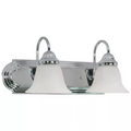 "2-Light 18"" Wall Mounted Vanity Fixture #60-316 Polished Chrome Finish"