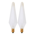 25W Decorative Incandescent Light Bulb- Frosted 2/Card SATCO S3746