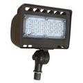 """LED 30W ECO-Flood Light with 1/2"""" Adj. Knuckle  71343A Bronze"""