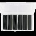 "4"" Pcs. Dual-Wall Adhesive Lined Heat Shrink Tubing 147 Pcs. Kit Black"