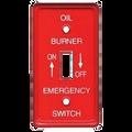 1-Gang Oil Burner Emergency Switch Plate #41005