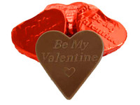 Large Foiled Chocolate Hearts