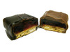 Jelly Grahams- Layers of our own raspberry jelly with a honey graham cracker. Available in milk or dark chocolate.