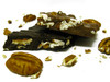 Pecan Bark: Large pecan halves and chocolate.  Available in milk or dark chocolate