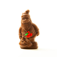 Small Semi Solid Chocolate Santa