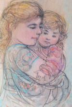 LI 0 - Yelina and Joseph - Artist Proof and Pastel Etching Experiment
