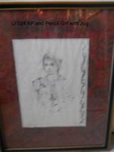 LI 024 Artist  Proof and Pencil Girl with  Jug