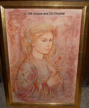 LI 149 Unique and Oil Chrystal - framed