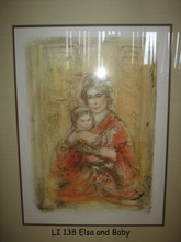 LI 138 Elsa and Baby Framed
