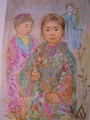Kim no - Artist proof and pastel