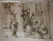 Three Vases - Artist Proof and Pastel