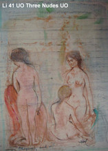 Three Nudes - Unique and Oil