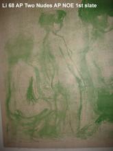 Three (two?) Nudes - Artist Proof 2nd slate