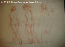 Three Graces - Artist Proof - With love, Edna Version 1