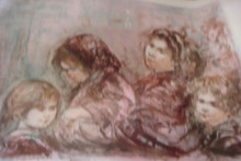 Mother and Three Children - Artist Proof