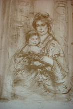 Elsa and Baby - Artist Proof for Richard
