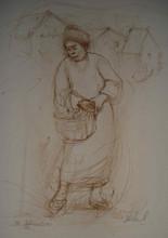 Farm Woman with Basket edition I